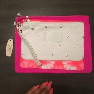NEW Victoria's Secret Tie Dye 3 Piece Bag Set